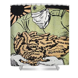 Japanese Imperialism Shower Curtain by Granger