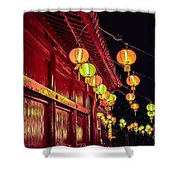 Japanese Lanterns 10 Shower Curtain