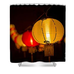 Japanese Lanterns 3 Shower Curtain