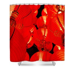 Japanese Lanterns 7 Shower Curtain