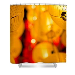 Japanese Lanterns 8 Shower Curtain