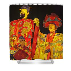 Japanese Lanterns King And His Dancers Shower Curtain