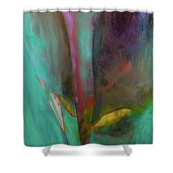 Shower Curtain featuring the painting Japanese Longstem  by Iconic Images Art Gallery David Pucciarelli