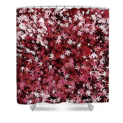 Shower Curtain featuring the digital art Japanese Maple Leaves by Matt Lindley