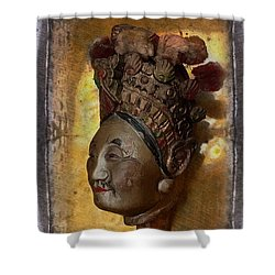 Japanese Puppet Head Single Shower Curtain by Jeff Burgess