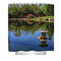 Japanese Reflections At Maymont Shower Curtain by Rick Berk