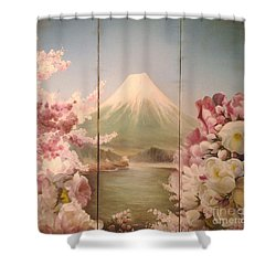 Japanese Spring Shower Curtain by Sorin Apostolescu