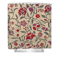 Japanese Style Karahana Pattern Design Shower Curtain