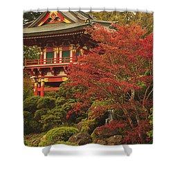 Japanese Tea Garden In Golden Gate Park Shower Curtain by Stuart Westmorland