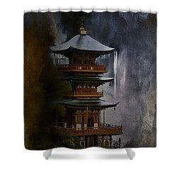 Japanese Temple. Shower Curtain
