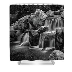 Japanese Waterfalls Shower Curtain