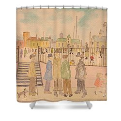 Japanese Whispers In Respect Of Lowry Shower Curtain by Sawako Utsumi