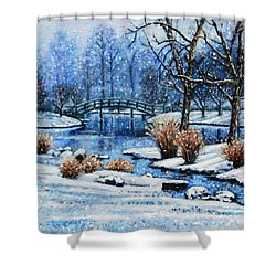 Japanese Winter Shower Curtain