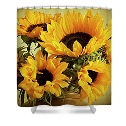 Jar Of Sunflowers Shower Curtain