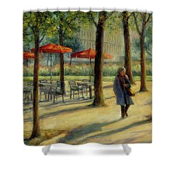 Jardin Des Tuileries In October Shower Curtain