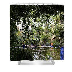 Shower Curtain featuring the photograph Jardin Majorelle 2 by Andrew Fare