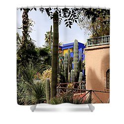 Shower Curtain featuring the photograph Jardin Majorelle 4 by Andrew Fare