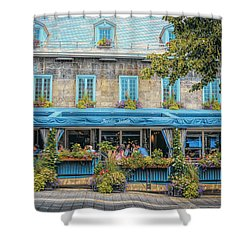 Jardin Nelson On Rue Saint-jacques Shower Curtain