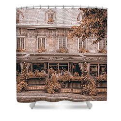 Jardin Nelson - Vintage Image Shower Curtain