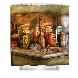 Jars - The Process Of Canning Shower Curtain by Mike Savad