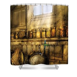 Jars - Winter Preserves  Shower Curtain by Mike Savad
