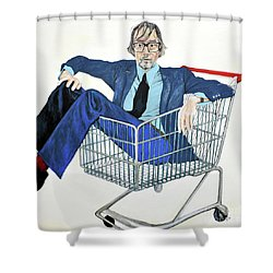 Jarvis Cocker 'off Yer Trolley' Shower Curtain