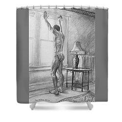 Jason At The Window Shower Curtain