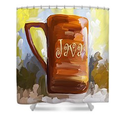 Java Coffee Cup Shower Curtain