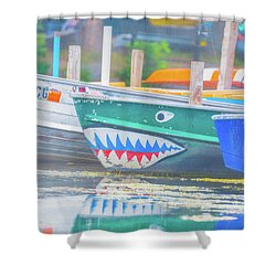 Jaws Shower Curtain by Pamela Williams