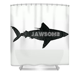 Jawsome Shower Curtain by Michelle Calkins