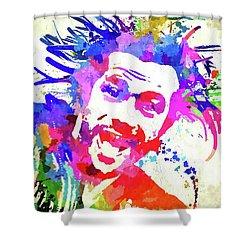 Jay Kay Jamiroquai Shower Curtain by Daniel Janda