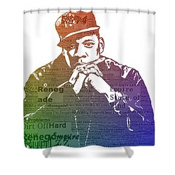 Jay Z Typography Shower Curtain by Dan Sproul