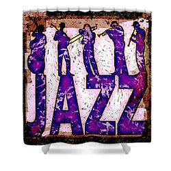 Jazz Abstract Shower Curtain by David G Paul