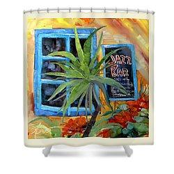 Jazz Bar In Santorini Shower Curtain