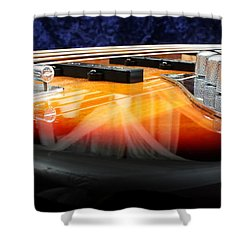 Jazz Bass Beauty Shower Curtain by Todd A Blanchard