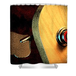 Jazz Bass Tuner Shower Curtain