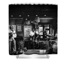 Shower Curtain featuring the photograph Jazz Combo by Joseph Hollingsworth