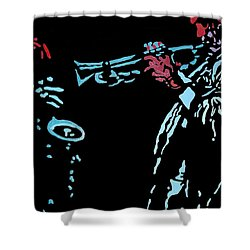 Jazz Duo Shower Curtain by Angelo Thomas