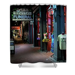 Jazz Funeral Shower Curtain