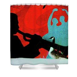 Jazz Goose Shower Curtain by Bill Cannon