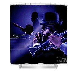 Jazz In Da Dusk Shower Curtain
