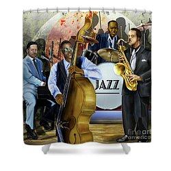 Jazz Jazz Jazz Shower Curtain