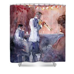 Jazz Nights Shower Curtain