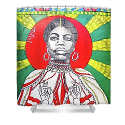 Jazz Saint Shower Curtain by Ethna Gillespie