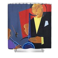 Jazz Sharp Shower Curtain by Kaaria Mucherera