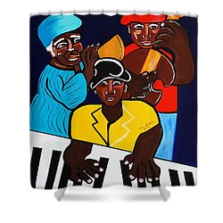 Jazz Sunshine Band Shower Curtain by Nora Shepley