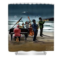 Jazz The Cool Of The Ocean Shower Curtain