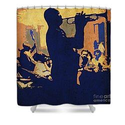Jazz Trumpet Player Shower Curtain
