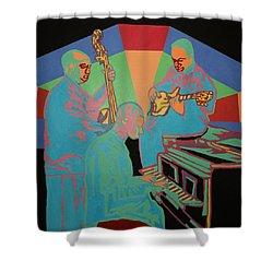 Jazzamatazz Band Shower Curtain