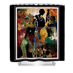 Jazzy Diva Shower Curtain by Lynda Payton